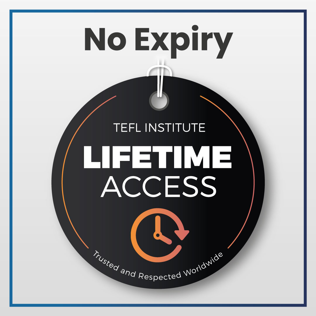Lifetime access to your TEFL course & jobs board