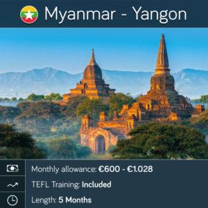 Teach English in Myanmar