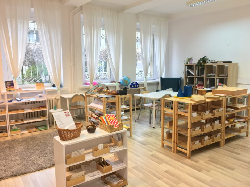 Montessori teaching classroom observation