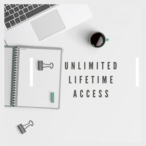 Unlimited lifetime access