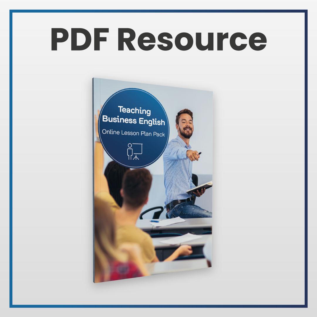 The TEFL Institute Teaching Business English Lesson E-Book