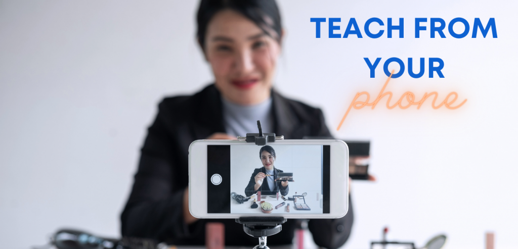Teach english from your phone